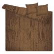 Barna TAFT 2 személyes ágytakaró 220 x 240 cm